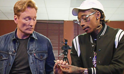 Conan O'Brien Tokes Up With Wiz Khalifa